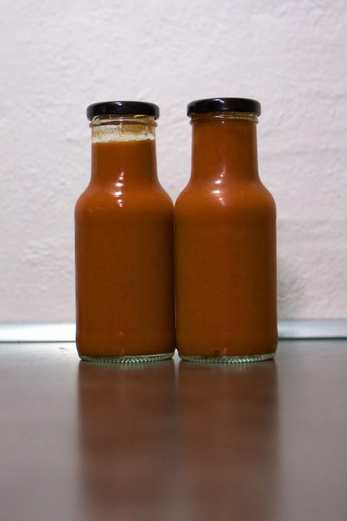 Det færdige resultat - en fin rød og velsmagende BBQ sauce