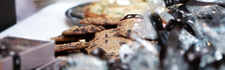 chokolade cookies med meget choko