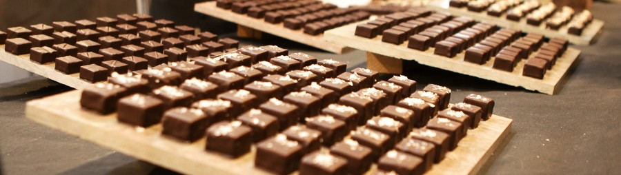 fyldte chokolader