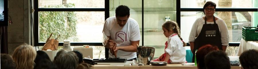 demokøkken - der laves chokoladefondant