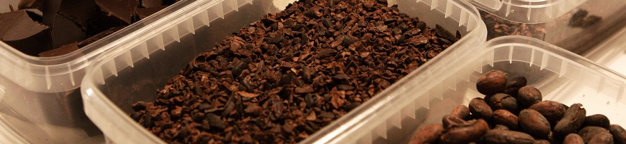 kakao nibs, valset kakao og kakao bønner