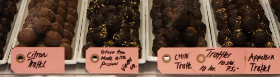 mange sjove fyldte chokolader