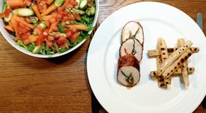 Hyben/Havtorn-kylling m. grillede skorzonerødder