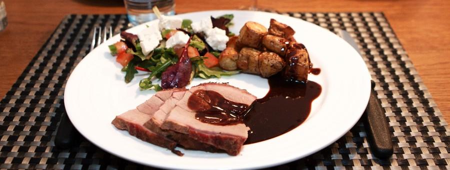 Et lækkert måltid med vildsvin