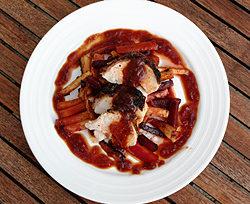 Kylling i kaffe-rub og med Espresso BBQ-sauce