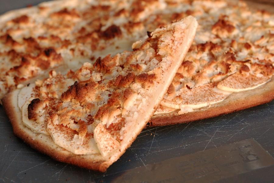 En lækker skive æble-pizza