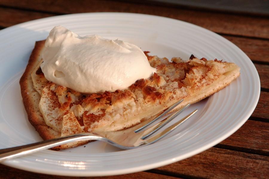 Mums hvor det smager - æblepizza med mocca skum