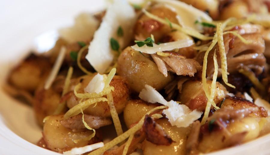 Citron Gnocchi med kylling, timian og parmasan