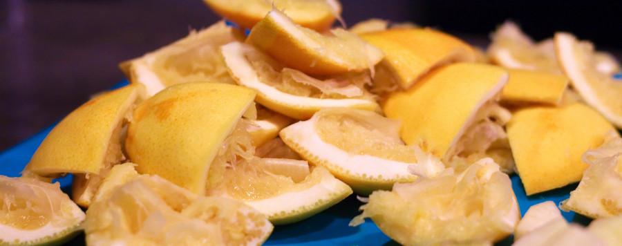 De pressede appelsiner kunne let genbruges