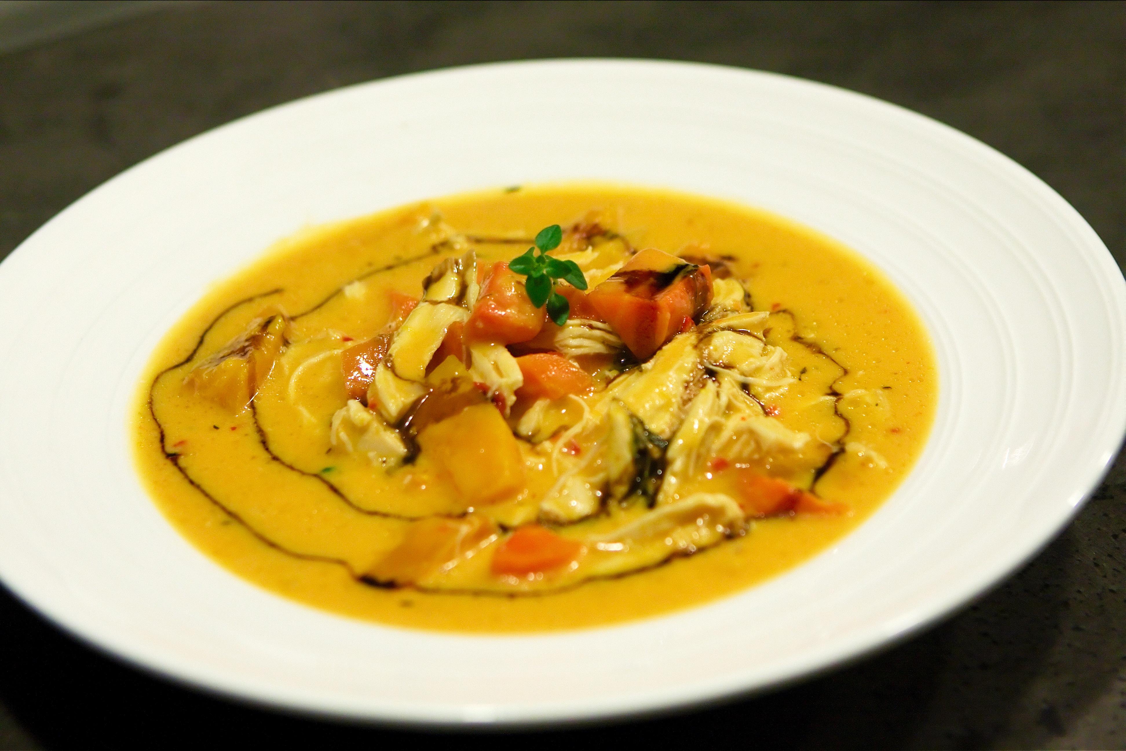 Græskar Suppe Med Chili Og Kylling Grill Kokkerier