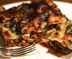 Den mest fantastiske kyllinge lasagne med spinat-bechamel