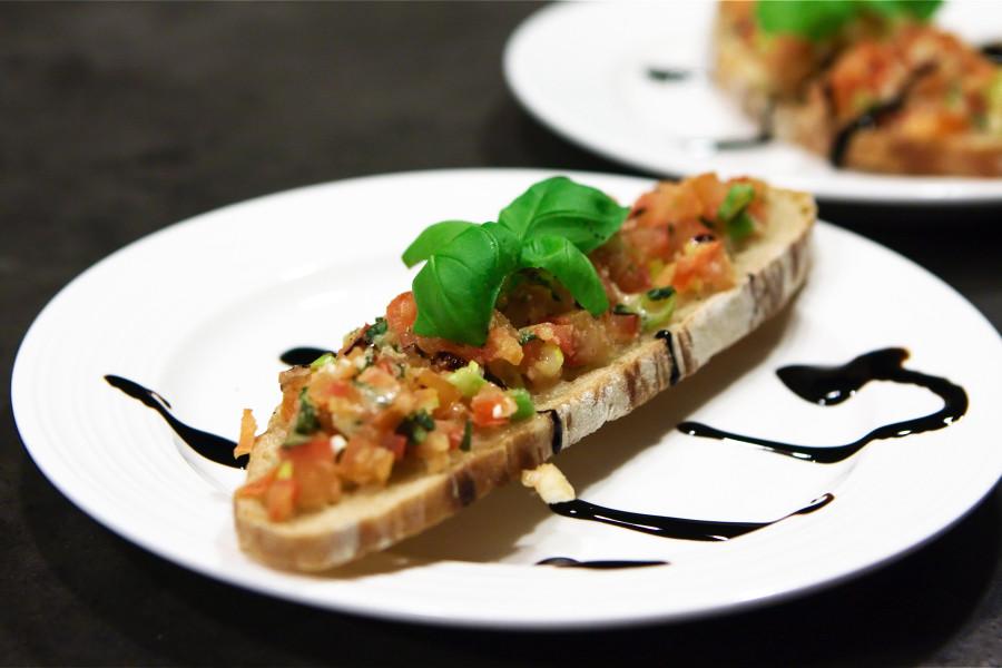 Bruschetta på no-knead brød