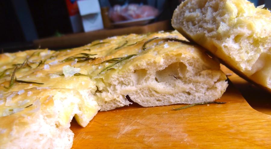 hjemmebagt focaccia brød