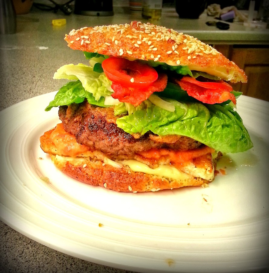 LCHF burger