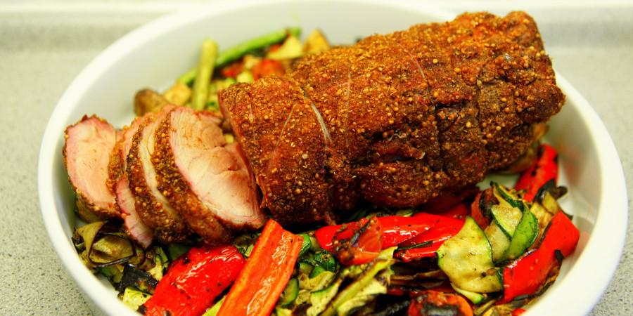 lammekølle og grønt klar til servering