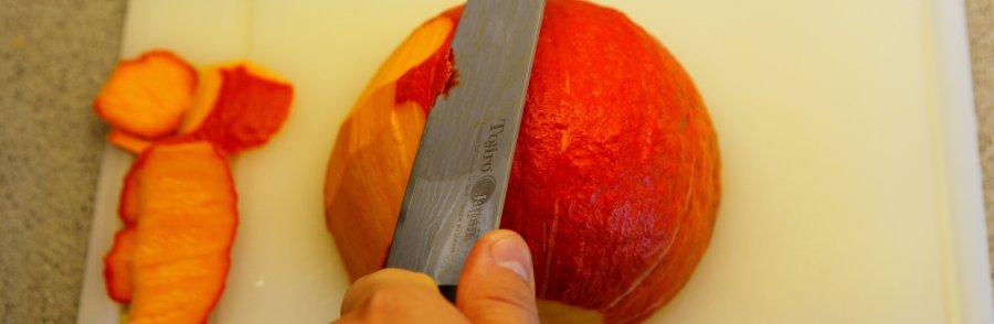 skallen på hokkaido fjernes let med kniven