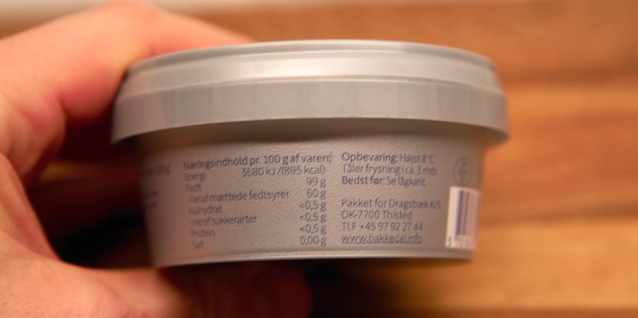 klaret smør er næsten 100% smørfedt