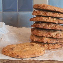Verdens bedste cookies med mandelsmør og chokolade